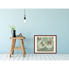 World map room. Framed and unframed map. Handmade paper print from 19,99€. Shipment worldwide.Awesome vintage world map.