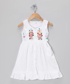 Take a look at this White Sisa Dress - Infant, Toddler & Girls by Little Cotton Dress on #zulily today!