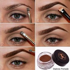How To Shape Your Eyebrows With Dipbrow Pomade | Sole Tutorials: