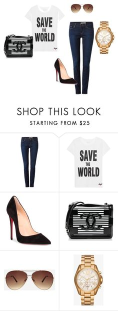 """""""Untitled #24"""" by ivananna on Polyvore featuring Levi's, Jadicted, Christian Louboutin, Chanel, Ashley Stewart and Michael Kors"""