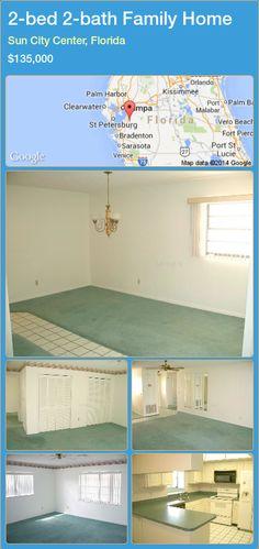 2-bed 2-bath Family Home in Sun City Center, Florida ►$135,000 #PropertyForSaleFlorida http://florida-magic.com/properties/45066-family-home-for-sale-in-sun-city-center-florida-with-2-bedroom-2-bathroom