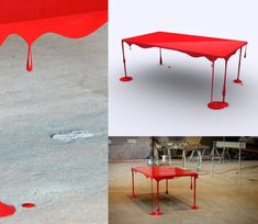 Dripping Table. This is cool. :-)  ~ trish :-)  Http://www.ArousedWomanBlog.com