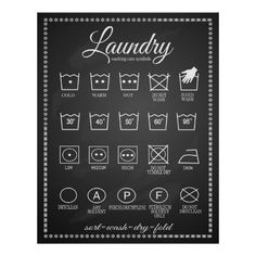 We like this Laundry poster infographic...