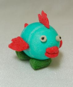 Hard boiled egg tropical fish! decorated with Magic Nuudles!