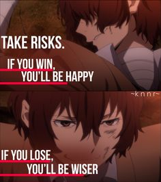 Anime Quote, Bungo Stray Dogs, Dazai - so true - Anime Sad Anime Quotes, Manga Quotes, Stray Dogs Anime, Bungo Stray Dogs, Dark Quotes, Anime Life, Anime Shows, True Quotes, Decir No