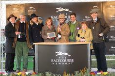In the winners enclosure at Newbury - Feb 2013