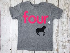 Children's birthday shirt Horse party pony by lilthreadzclothing