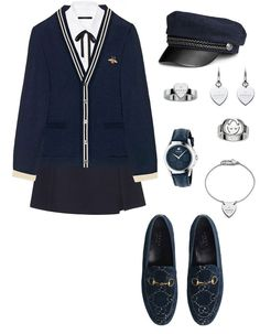 Preppy outfits, korean outfits, going out outfits, outfits for teens, wardrobe closet Kpop Fashion Outfits, Stage Outfits, Girly Outfits, Cute Casual Outfits, Stylish Outfits, Womens Fashion, School Uniform Outfits, Preppy Outfits, Korean Outfits