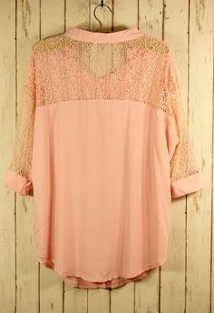 #Chicwish Best Lace Forward Shirt in Pink - New Arrivals - Retro, Indie and Unique Fashion