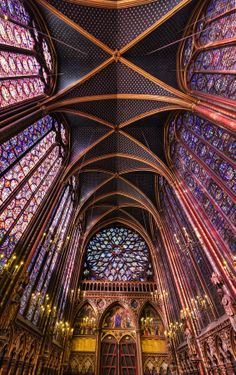 Sainte Chapelle (The Holy Chapel) is a 13th-century Gothic chapel on the Île de la Cité in the heart of Paris, France. It was built by Louis IX for use as his royal chapel.