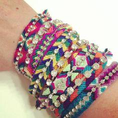 Friendship bracelet Rhinestone friendship bracelets by McIntoshJewelry,