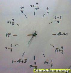 Reloj original para practicar matematicas!