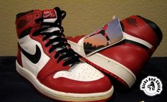 """Nike Air Jordan 1 OG Banned is the first Jordan shoe ever. It's named the """"Banned"""" jordan because the shoe was banned by the NBA due to color policies."""