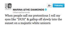 Marina and the Diamonds funny tweet