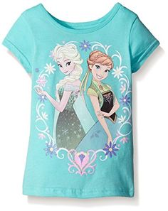 Disney Little Girls Frozen Sisters Short Sleeve Graphic TShirt Active Turquoise 6X *** Amazon most trusted e-retailer  #DisneyforGirls