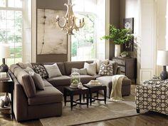 Deep Teal Wall Color Modern Living Room Decor Ideas Brown