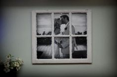 Finished my first large photo in an old windowpane :) front view