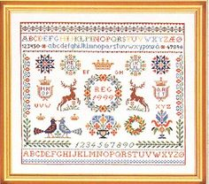 ABC cross stitch and supplies