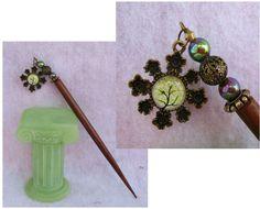 Gold Celtic Tree of Life Glass Charm Wooden Hair Stick  http://cgi.ebay.com/ws/eBayISAPI.dll?ViewItem=151023402030
