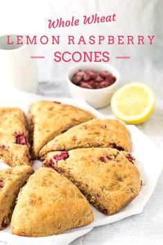 Whole wheat lemon raspberry scones