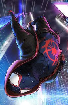 Miles Spiderman, Spiderman Poster, Miles Morales Spiderman, Spiderman Drawing, Black Spiderman, Spiderman Spider, Amazing Spiderman, Spider Art, Spider Verse