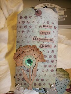 Creativity is good.: October 2010 stamping scrapbook tag