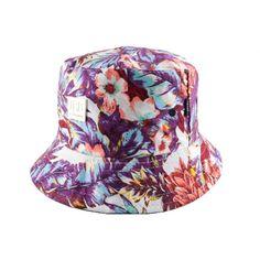 Bob JBB Couture Florale turquoise et Rose #bob #mode #streetwear sur www.hatshowroom.com votre boutique headwear