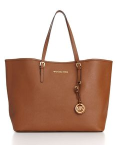 MICHAEL Michael Kors Saffiano Medium Travel Tote - Handbags & Accessories - Macy's