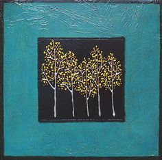 """All in the Family-Teal by brian billow  ~ 24"""" x 24"""""""