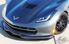 LG Motorsports C7 Stingray G7 Carbon Front Splitter  http://wheelsmagic.blogspot.com.eg/ Automotive News #Automotive_News