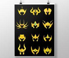 Poster - Ilustração Cavaleiros de Ouro por Phellippe Samarone Camargos Silva