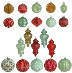 Hand Painted Winter Tidings Glass Ornament Christmas Tree Home Decor (20-Count)  #Ornaments #GlassOrnaments #ChristmasTreeDecor #HomeDecor #HandPainted #Winter #Tidings #Glass #Christmas #ChristmasDecor #ChristmasHomeDecor