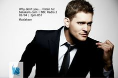 Michael #Buble is on #BBCRadio2 today from 2pm London time! Tune in and don't forget to tell your Buble friends! http://balakam.com/blog/michael-buble-on-bbc-radio-2-02-04-2pm-bst/read #balakam #radio #entertainment #live