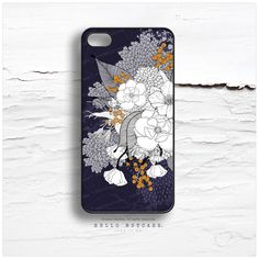 """iPhone 6 Case Navy Floral, iPhone 5C Case Floral, iPhone 5s  """"White Night"""" by Iveta Abolina, iPhone 4 Case, White Flower iPhone Cover I167 by HelloNutcase on Etsy https://www.etsy.com/listing/196285247/iphone-6-case-navy-floral-iphone-5c-case"""