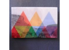 Triangle Landscape Mounted Print