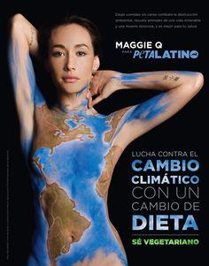 Maggie Q le pide a la gente que sea responsable y que piense cómo nuestras opciones alimentarias impactan sobre la Tierra, los animales y nuestra salud.