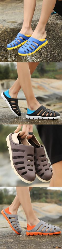 US$21.89 + Free shipping. Men Sandals, Hollow Out Sandals, Casual Sandals, Outdoor Sandals, Breathable Sandals, Beach Sandals. Color: Black, Brown, Gray, Blue. Material: PVC.