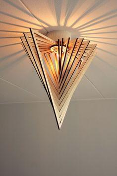 Social Networking for Amateur Home Decorators Ceiling Light Shades, Ceiling Lights, Lamp Design, Lighting Design, Lampe Laser, Laser Cut Lamps, Luminaire Original, Carton Diy, Lampe Decoration