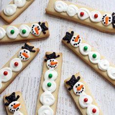 Snowman decorated #cookie sticks