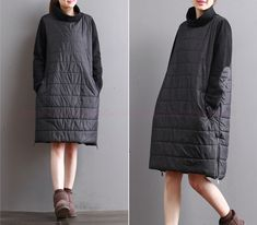 Maxi Dresses – Women Winter Warm Loose Dress – a unique product by Ounthenyllion on DaWanda