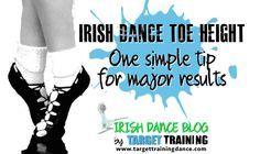 Improve Irish Dance Toe Height with one simple tip Target Training | Irish dance strength & conditioning www.targettrainingdance.com