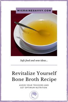 How do you go with chicken broth? Do you have histamine intolerance? If you do, only cook this recipe for 2 hours Headache Diet, Migraine Diet, Foods For Migraines, Natural Remedies For Migraines, Slow Cooker Recipes, Diet Recipes, Recipe For 2, Food Experiments, Large Slow Cooker