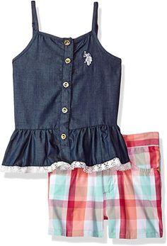 95502b9f31f0 Toddler Girls  Fashion Top and Short Set