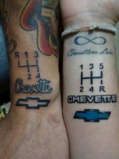 #chevette #chevrolet #tatoo #tatuaje Dream Tattoos, Girl Tattoos, Tatoos, Chevette Hatch, Chevy Tattoo, Kendo, 4 H, Pin Collection, Tatting
