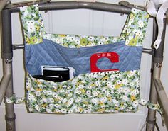 Sew a Hanging Bag for a Walker with This Free Pattern: Customized Walker Caddy