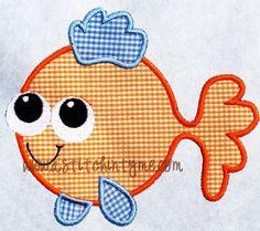 Fish Machine Embroidery Applique Design by astitchintymedesignb, $3.00