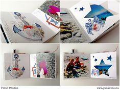 Fotóalbum - Együtt a tengernél! - punkrose.hu Bookbinding, Playing Cards, Scrapbooking, Gift, Pictures, Photograph Album, Playing Card Games, Scrapbooks, Game Cards