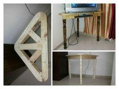 Corner table for CRT-TV