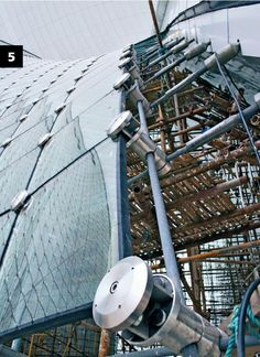 China Maritime Museum, Lingang, China: detail glass fixing cable net façade (Structural and Façade Engineering sail structures and cable net façade: Werner Sobek Ingenieure) Source: http://www.letsglass.com/News-and-Articles/Technology/Facades--cables-and-special-structures_20121019.aspx