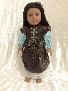 Steampunk/pirate ensemble for your American by DollSizeDesigns, $99.00